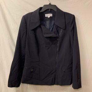 Calvin Klein women's black front zip blazer